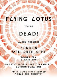 Listen to 'You're Dead!' in full at London's Plastic People tomorrow