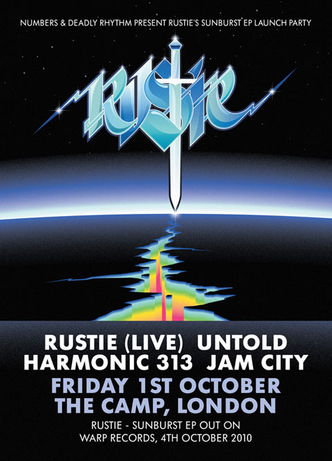 Sunburst EP Launch Party - Rustie, Harmonic 313, Untold & Jam City - Friday 1st October, The Camp, London