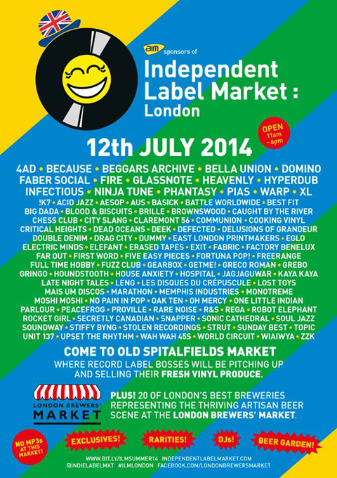 See us at London's Independent Label Market on Saturday