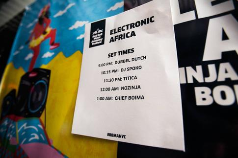 Photos from RBMA's Electronic Africa in New York