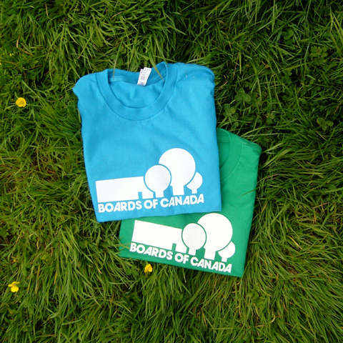 T-Shirts designed by the band back in stock at Bleep - Black, Blue or Green