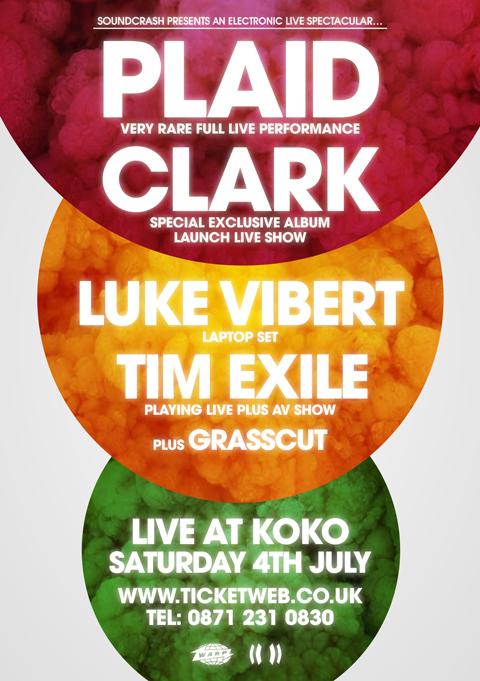 Soundcrash Presents the 'Totems Flare' Album Launch Show (London) with Plaid, Luke Vibert and Tim Exile