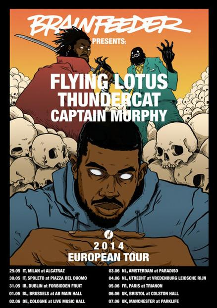 Win tickets to the Brainfeeder European Shows this summer