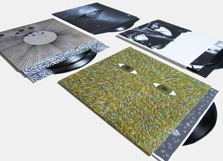Vinyl reissues of Cosmogramma, Los Angeles, Reset, and Pattern+Grid World at Bleep