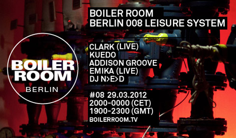 Live broadcast from Boiler Room Berlin this Thursday, joined by Kuedo, Addison Groove, and more