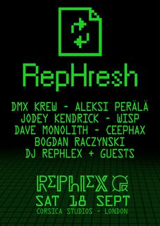 Rephlex 'RepHresh' European Tour 2010 - plus watch some Aphex Twin at LED Festival videos