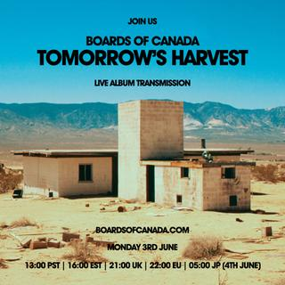 Tomorrow's Harvest Album Transmission Now Live