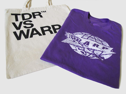 New TDR vs. Warp T-Shirt & Tote Bag - order now from Bleep