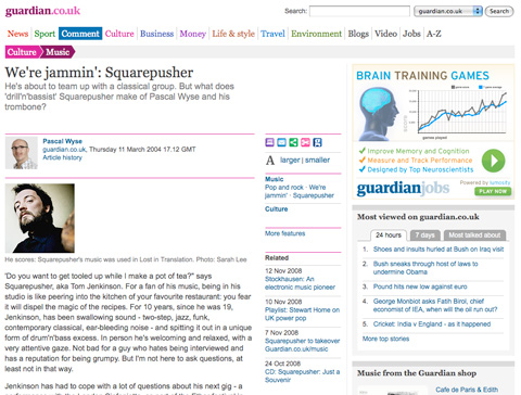 Interview in The Guardian newspaper