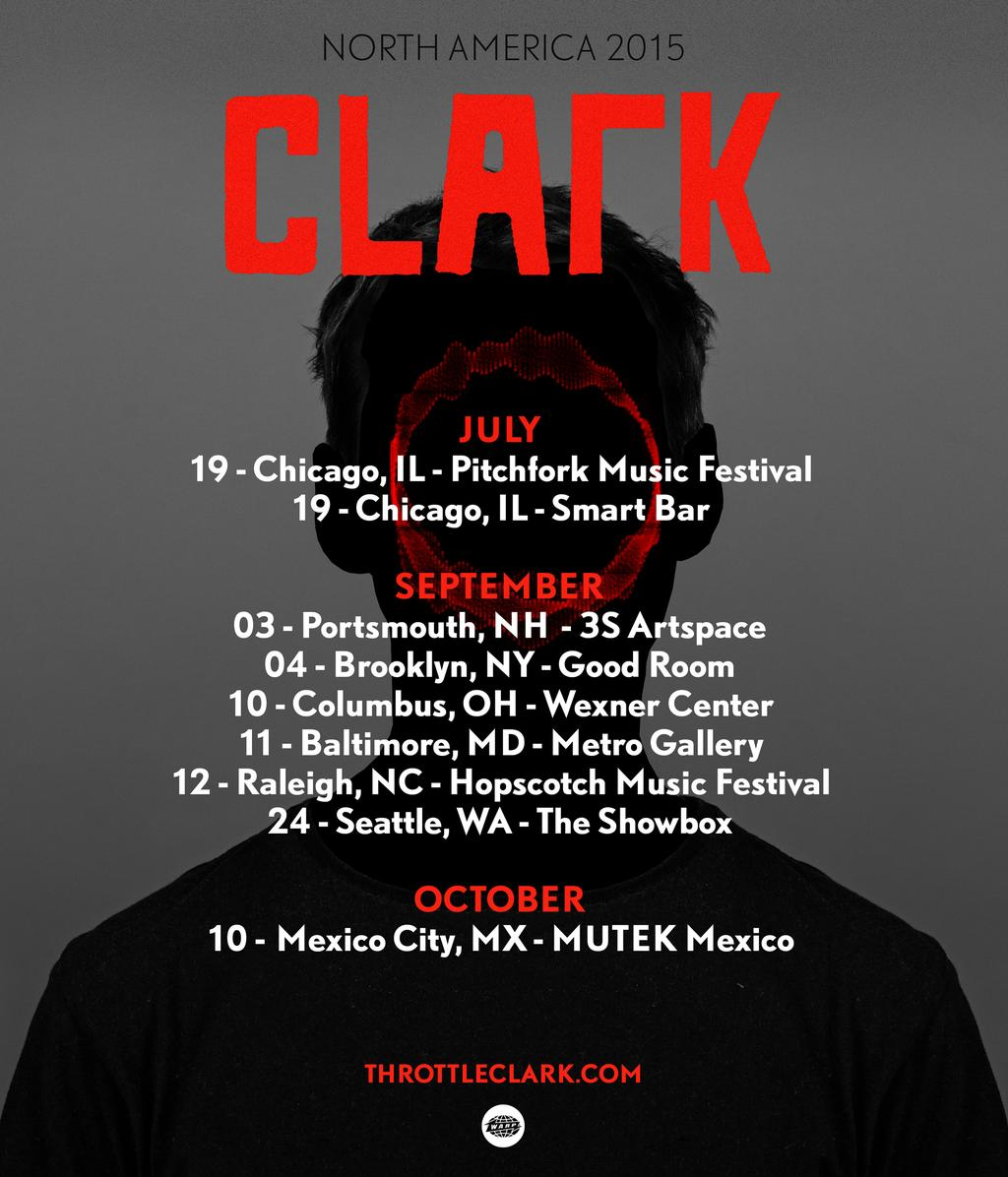 Tour dates in North America 2015