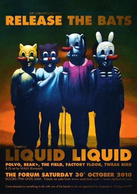 ATP's Release The Bats: Liquid Liquid, Polvo, Beak>, The Field and more in London 30th October